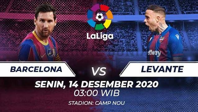 Prediksi Barcelona Vs Levante, Senin 14 Desember 2020 Pukul 03.00 WIB