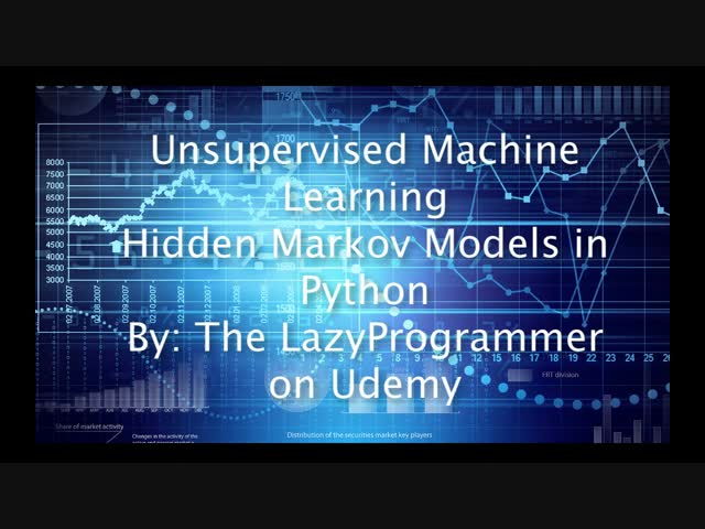 Unsupervised Machine Learning Hidden Markov Models in Python