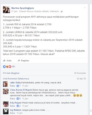 Berapa besar anggaran program AHY dalam debat semalam ? salah satu netizen sudah menghitungnya buat anda. penasaran ?