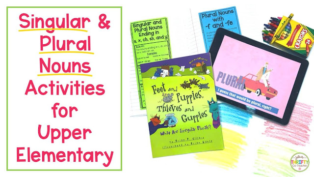Looking for singular and plural nouns activities to help upper elementary students review the plural noun rules? Here are a few ideas & resources.