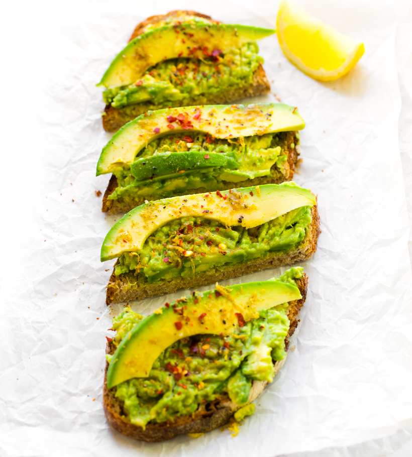 avocado toast citrus cumin salt