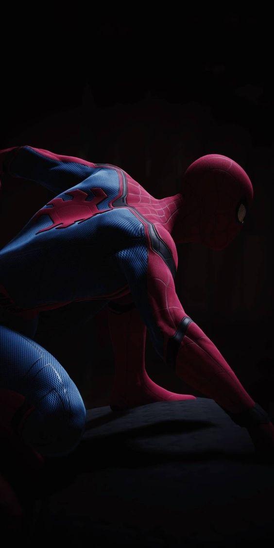 Wallpaper hitam spiderman