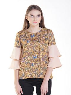 model baju batik atasan santai