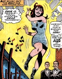 Amazing Spider-Man #59, don heck, john romita, at a mystery nightclub, mary jane watson dances as her gangster employers watch on