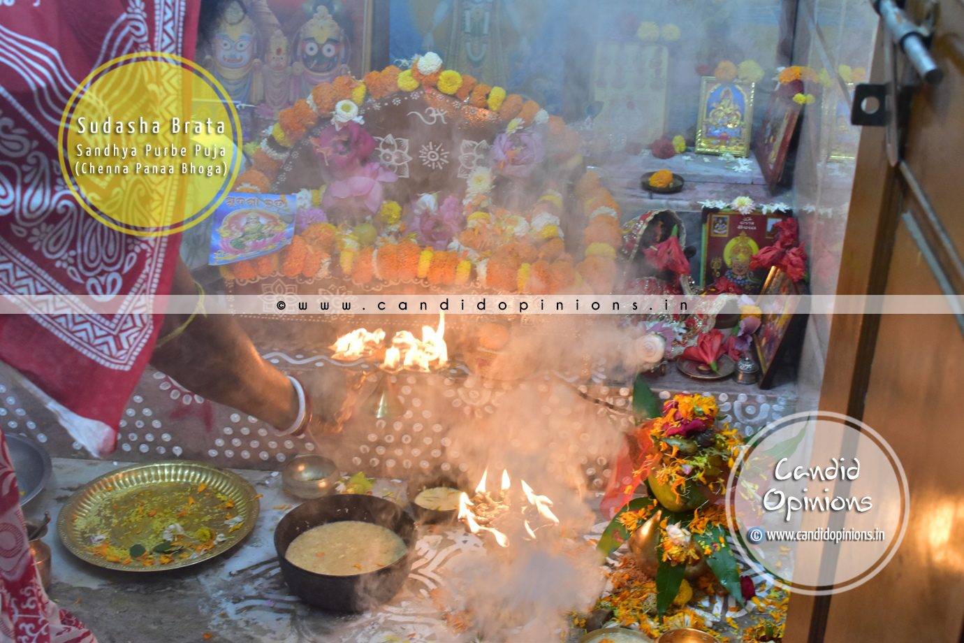 Chenna Panaa offered to Goddess Laxmi before evening