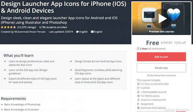 [100% Off] Design Launcher App Icons for iPhone (IOS) & Android Devices| Worth 109,99$