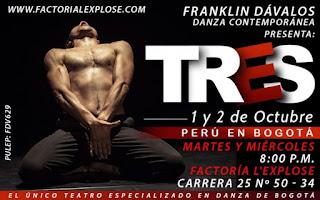 TRES por Franklin Dávalos | Teatro Factoria L'Explose