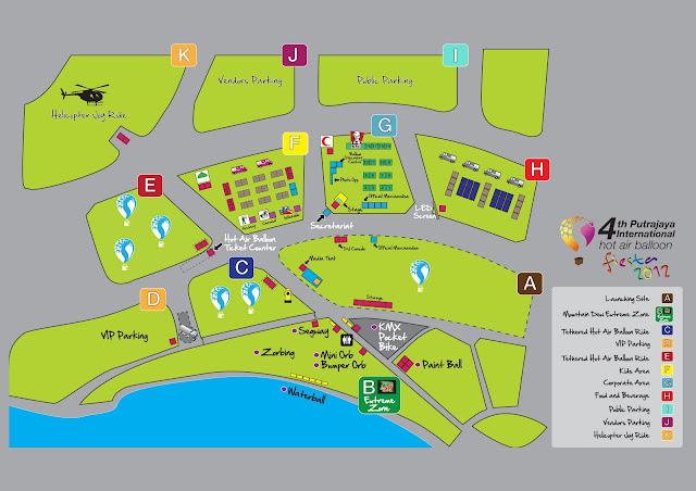 Map to Putrajaya International Hot Air Balloon Fiesta