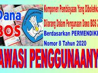 Pembiayaan Yang Dibolehkan dan Dilarang Dalam Pengunaan Dana BOS 2020, Awasi