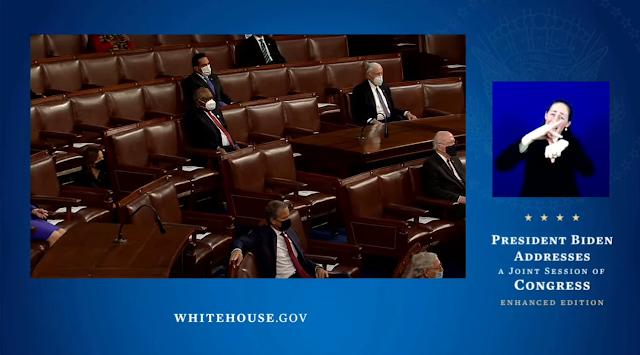 Sleeping members of Congress Joe Biden State of the Union 2021