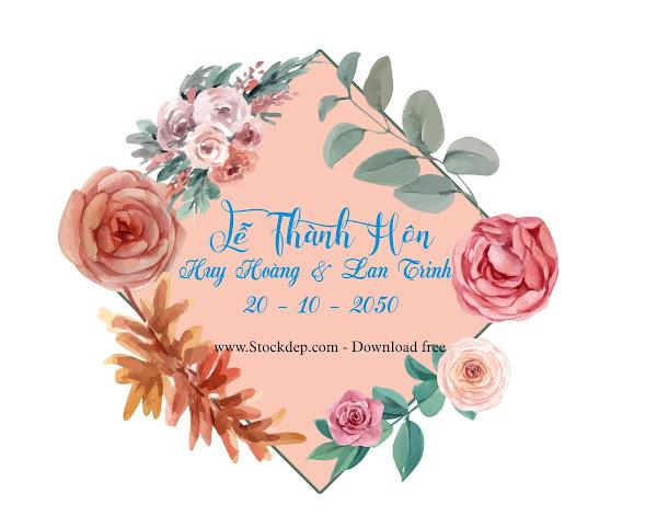 Download bảng tên đám cưới miễn phí file Corel
