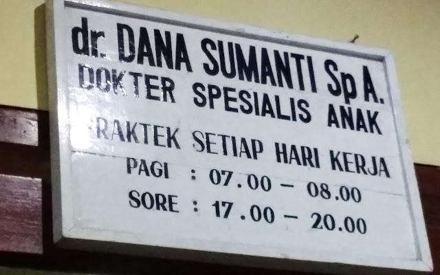 Jam Praktek dr. Dana Sumanti, Sp.A