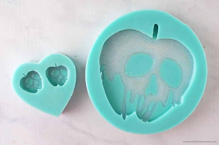 Poison Apple Molds filled with White Resin
