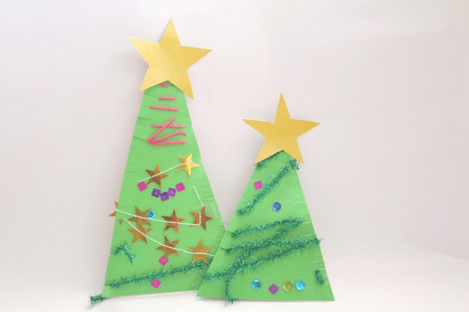 Invitation to Create - christmas tree craft for kids