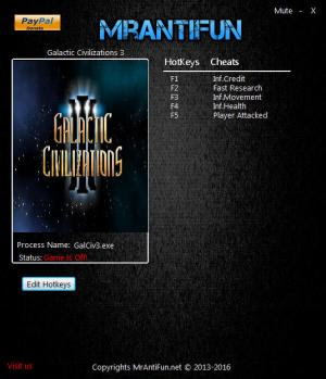 Download Galactic Civilizations 3 Trainer