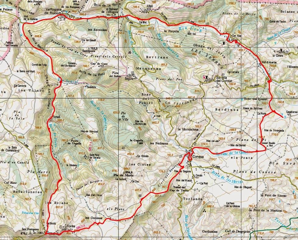 Vallfogona De Riucorb Mapa.Ara Va De Btt Alta Vall Del Riu Corb Vallfogona De Riucorb Conca De Barbera
