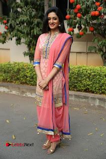 Actress Vimala Raman Stills in Beautiful Pink Salwar Kameez at (ONV) Om Namo Venkatesaya Press Meet  0259.JPG