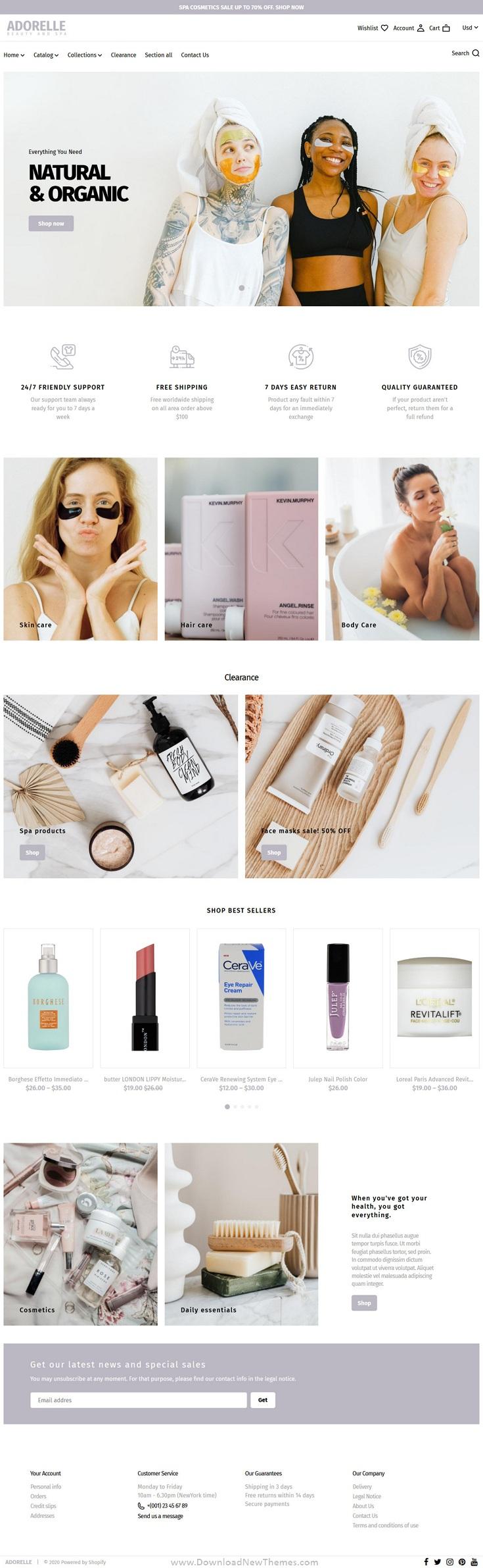 Beauty Salon and Spa Shopify Theme