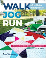 walk jog run quilting book by Dara Tomasson