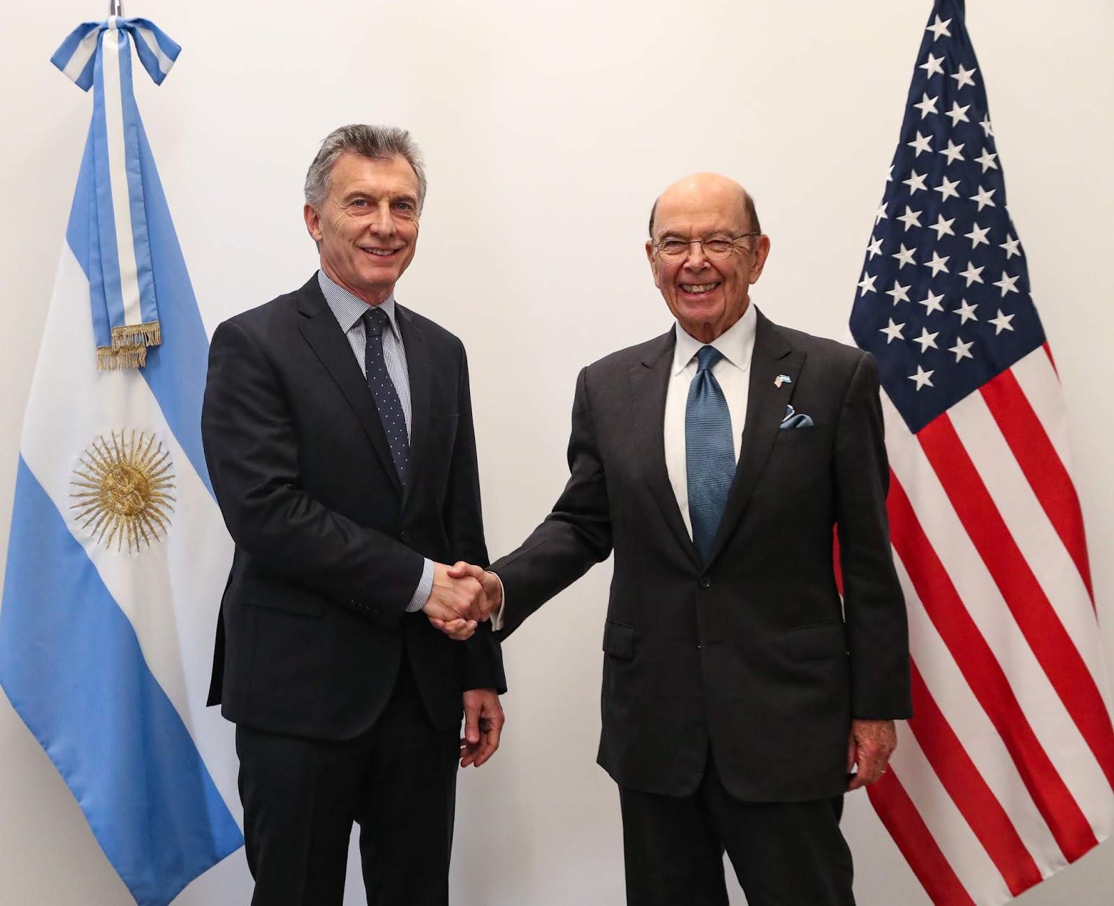 El presidente Macri recibió en Olivos al secretario de Comercio de Estados Unidos