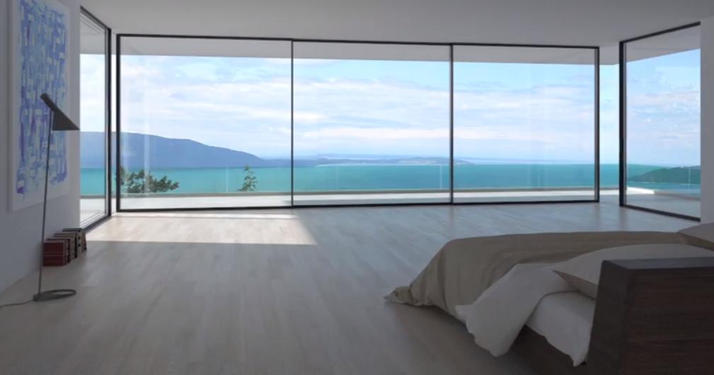 This Sliding Glass Door Can Turn Around Corners