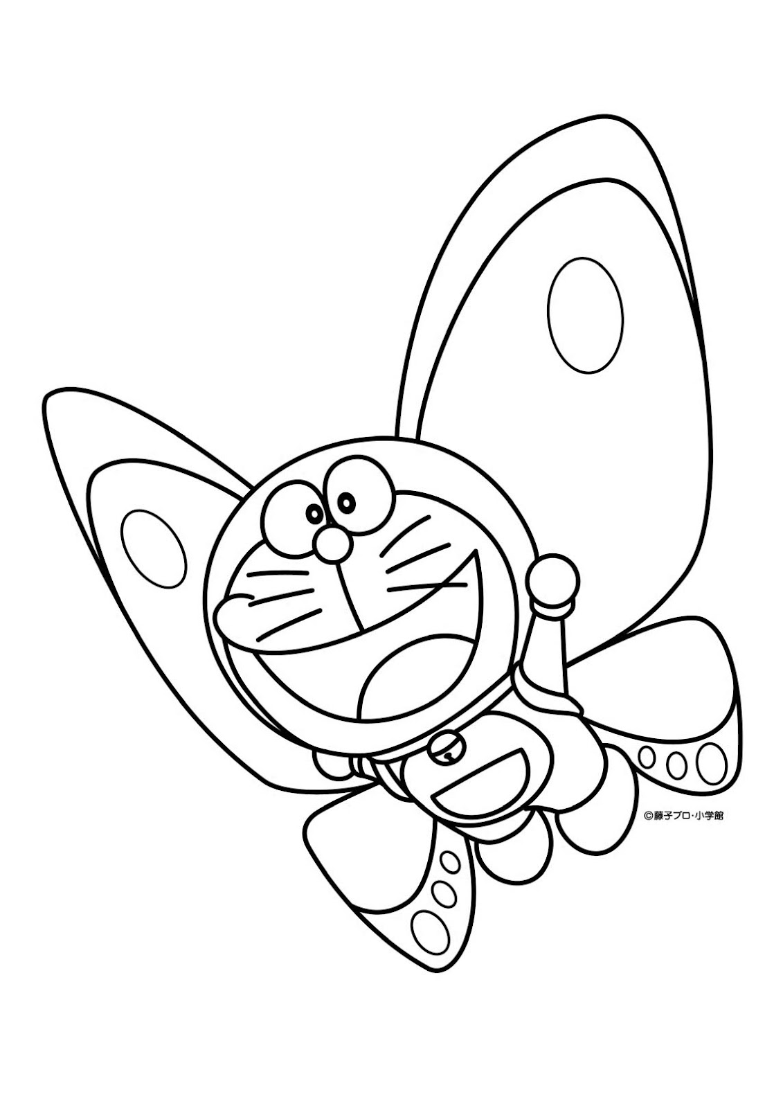 Animated cartoon doraemon coloring pages for kids for Doraemon coloring pages