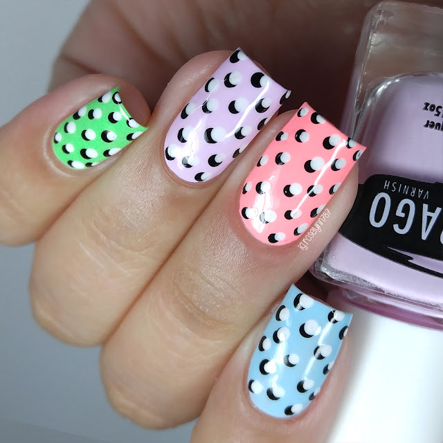 Spring Pastel Double Dotticure | Nail Art