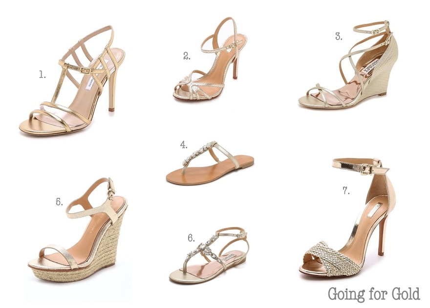 0ef3668a880c2 Going for Gold Wedding Shoes