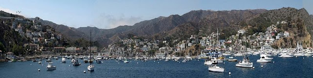 A panorama of harbor at Santa Catalina Island