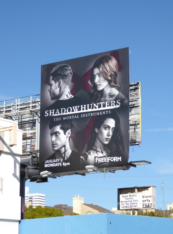 Shadowhunters Mortal Instruments season 2 billboard