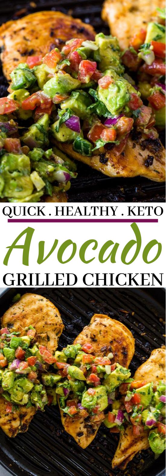 Grilled Chicken with Avocado Salsa #healthy #glutenfree