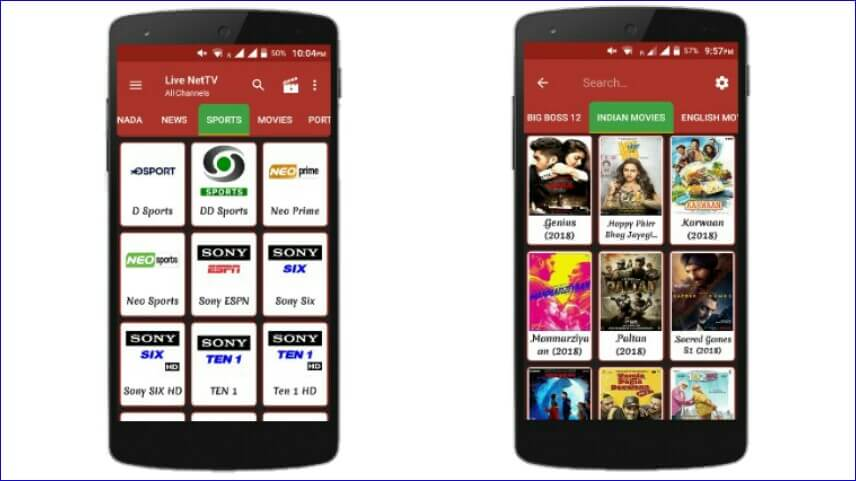 live net tv app for android