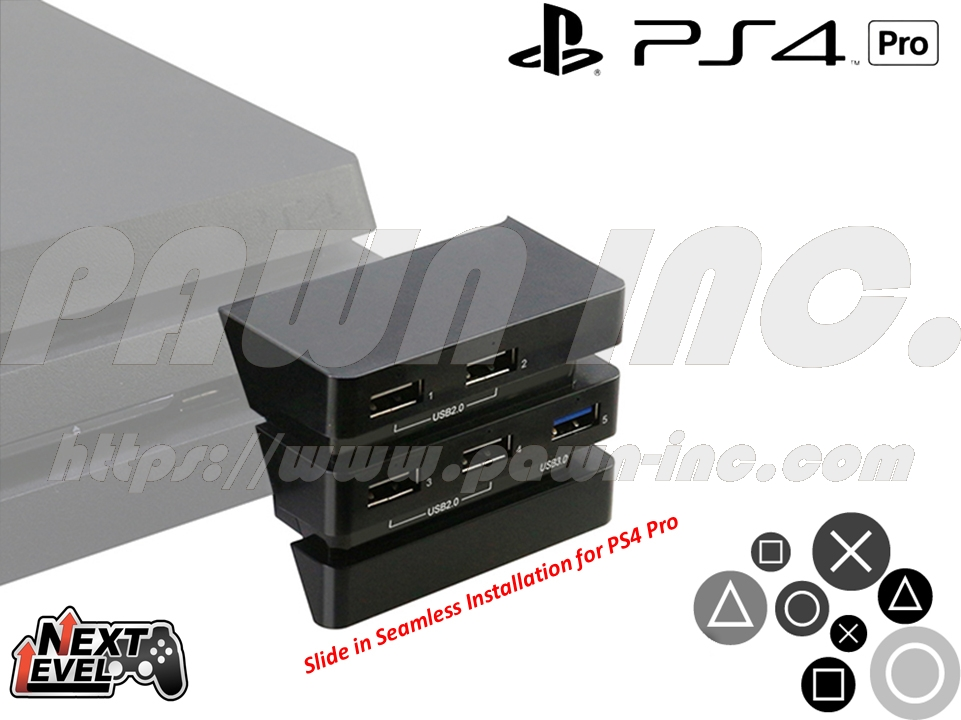 SONY PlayStation PS4 Pro High Speed USB Multi Expansion Hub
