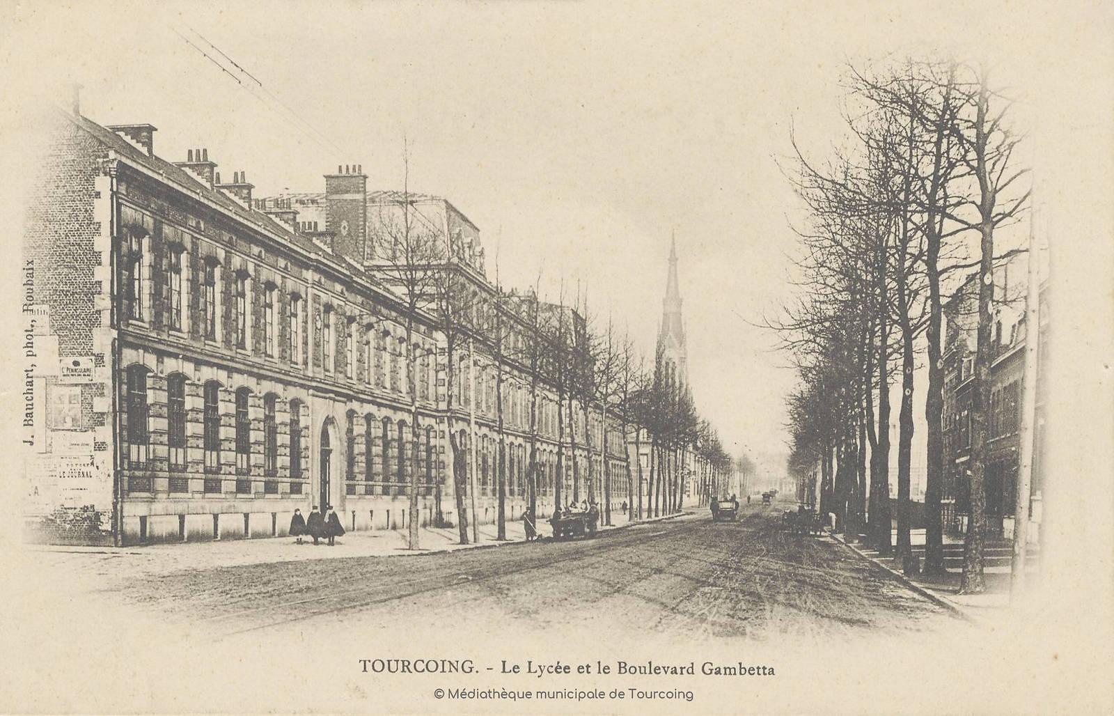 Carte Postale ancienne - Lycée Gambetta Tourcoing