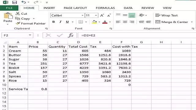 MS EXCEL FORMULAS AND FUNCTIONS