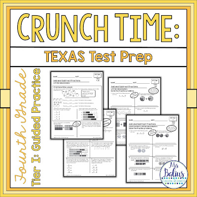 Fourth Grade Texas Math Test Prep Guided Practice