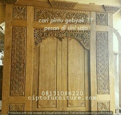 Harga Pintu Gebyok Bali Minimalis Termurah