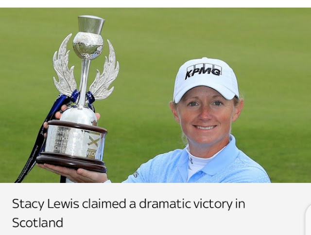 Lewis Stacy claims first victory since three- years ago winless in Ladies Scottish Open at Renaissance Club play-off