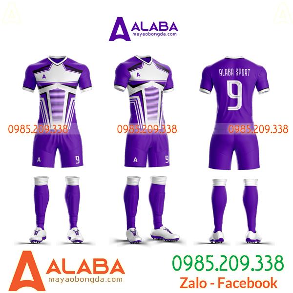 Áo bóng đá màu trắng tím cực ngầu