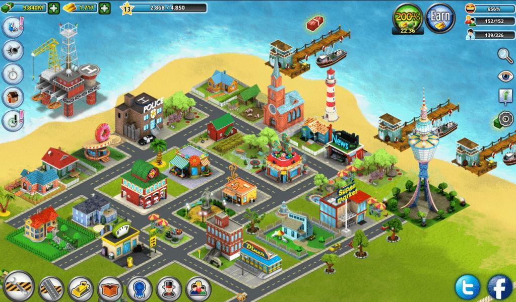 تحميل لعبة village city island sim مهكرة