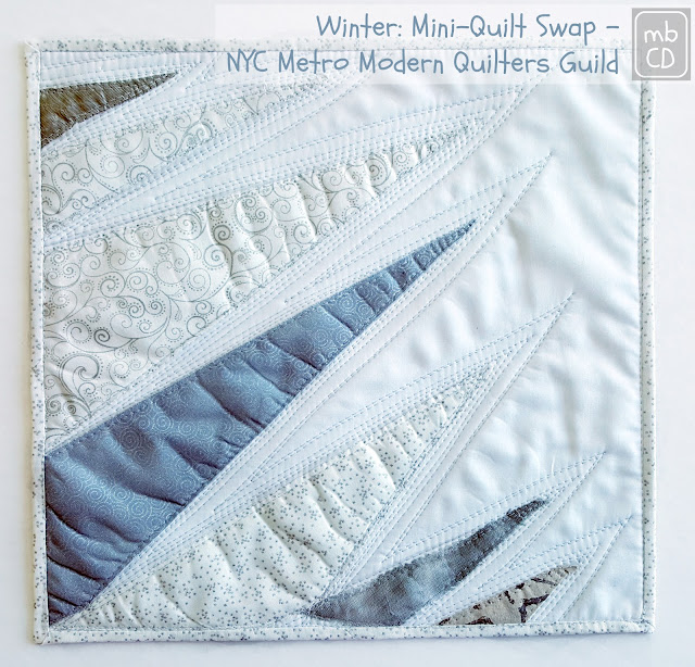 Winter Mini-Quilt by www.madebyChrissieD.com