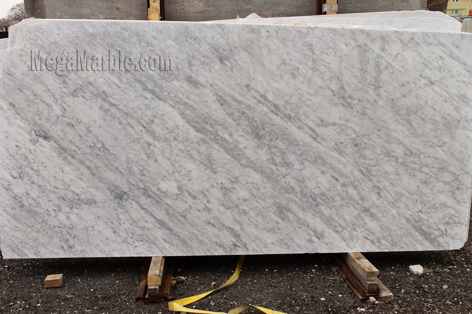 White Carrara - Marble Slab 1 1/4