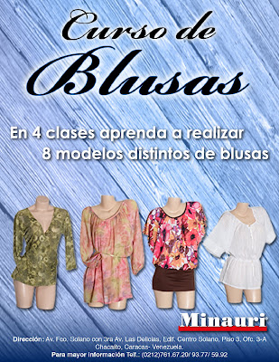 Curso Costura Confección Blosus - Sewing Course Blouses