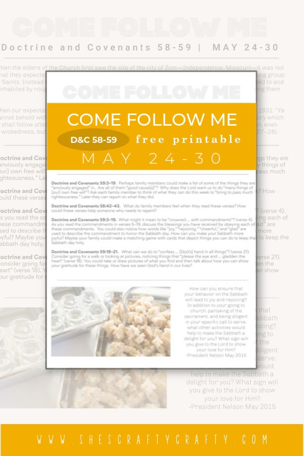 Come Follow Me Weekly Printable May 24 Pinterest Pin.