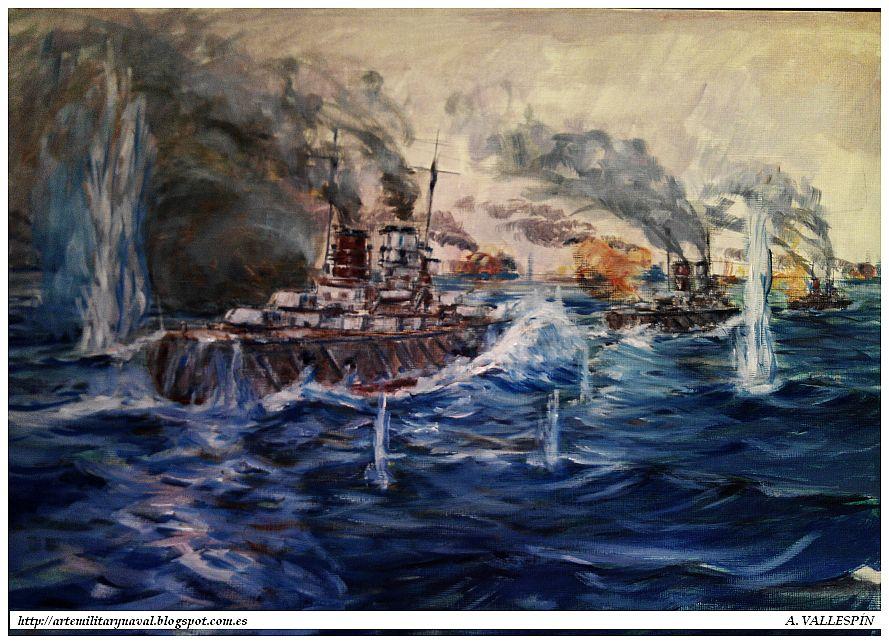 Óleo de la Cabalgata de la Muerte en Jutlandia segunda versión