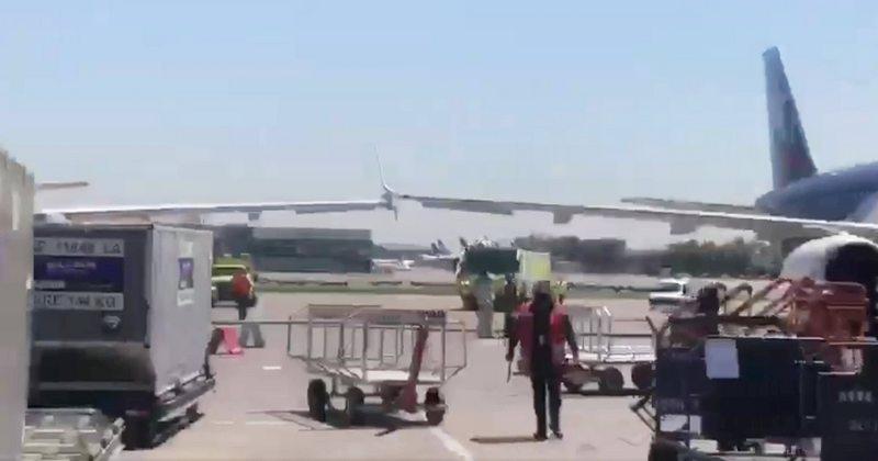 Piloto y analista en aviación analizan el topón de dos aviones en el aeropuerto de Pudahuel