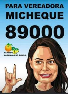 michelle bolsonaro candidata a vereadora