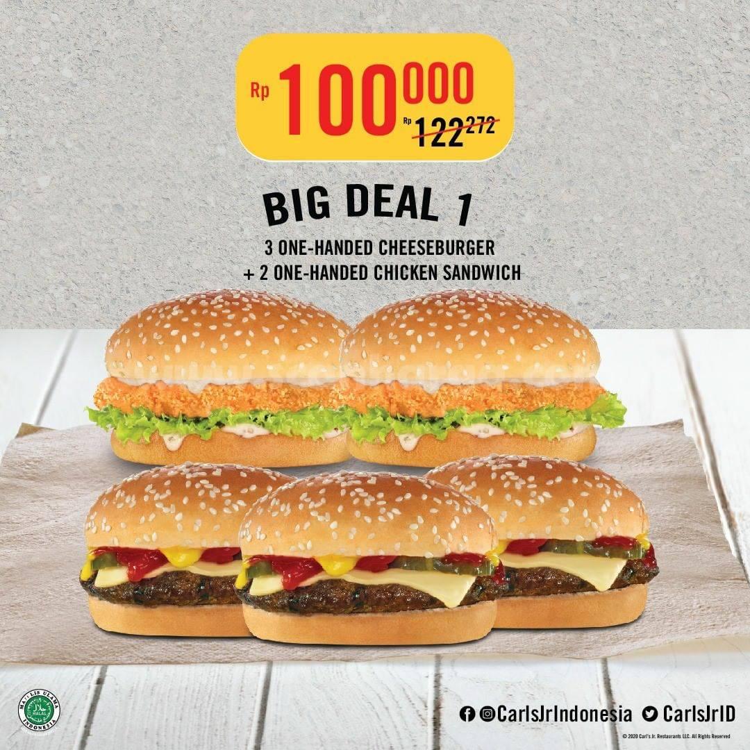 CARLS JR Promo BIG DEAL – Paket Makan Berempat harga mulai Rp 100.000*