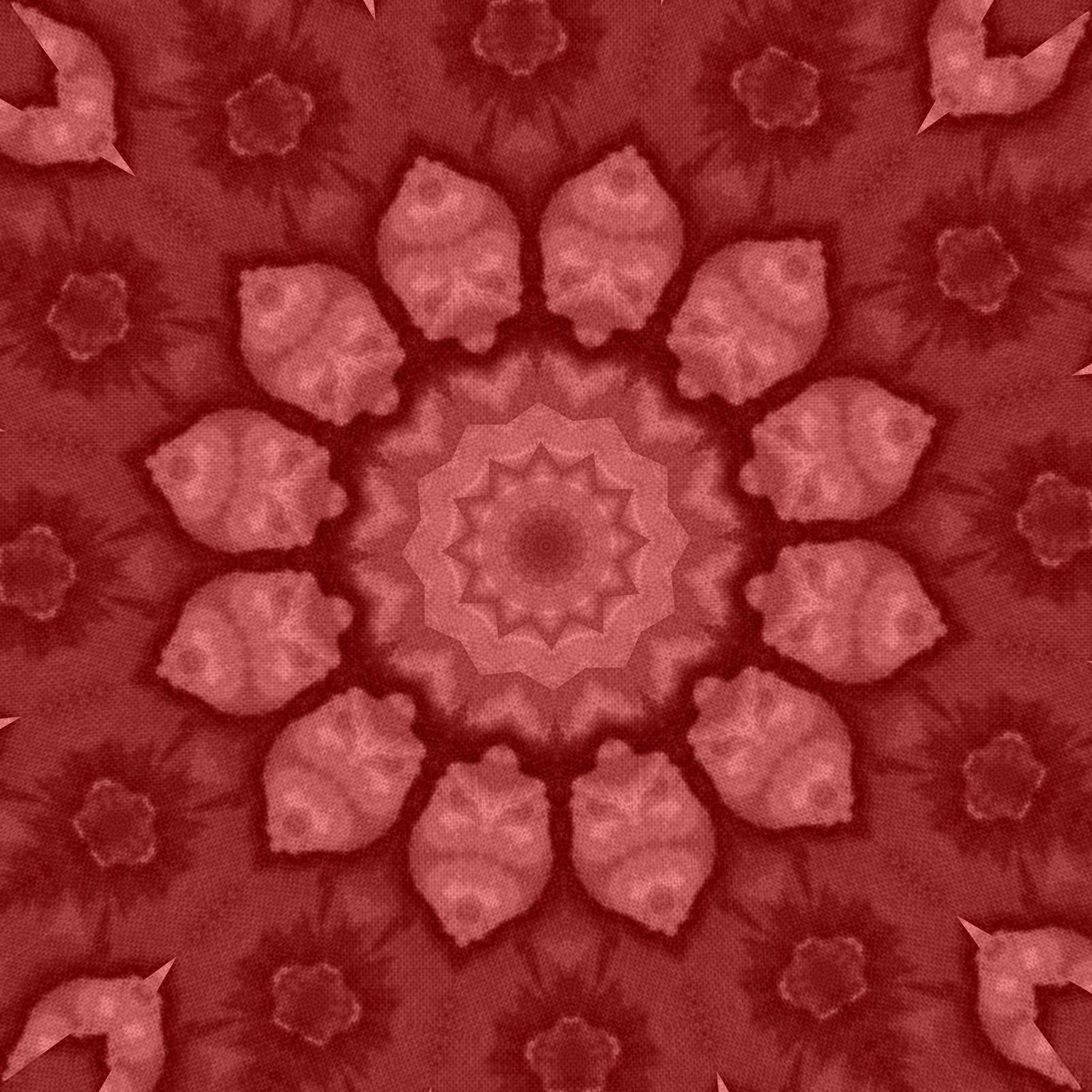 Free download bright red bohemian mandala patterned digital background paper.