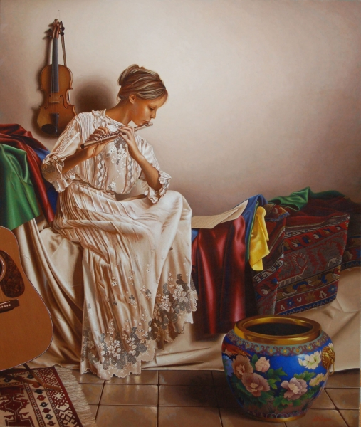 10-Evening-Sonata-Mark-Thompson-Photo-Realistic-Still-Life-Paintings-www-designstack-co